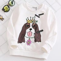 Dolce&Gabbana Girls Boys Children Baby Toddler Kids Child Fashion Casual Top Sweater Pullover