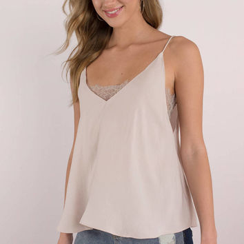 Free People Deep V Bandeau Tank Top