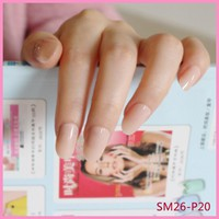 NEW 24pcs Hot new design beautiful delicate oval candy cute fake nails nail color Baby pink P20X