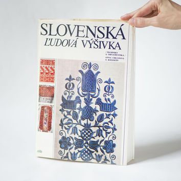 Slovak Traditional Embroidery book 1st edition Chlupova. Folk embroidery bible craft book 1985. Needlework motifs colors gift craft admirer