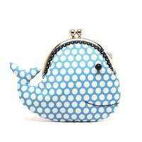 Supermarket: Cute cerulean blue whale clutch purse from Misala Handmade Bags & Purses
