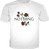Nothing Rose Floral T-Shirt - Aesthetic Flower Tee