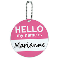 Marianne Hello My Name Is Round ID Card Luggage Tag
