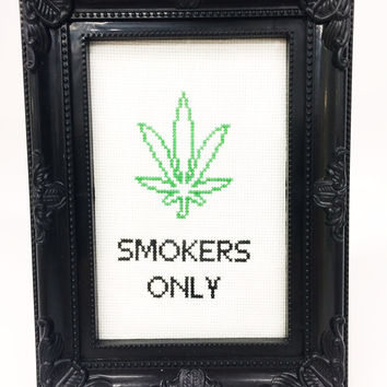 Framed Naughty Cross-stitch