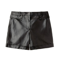 Alexander Wang / Cuffed Leather Shorts   |   La Garçonne