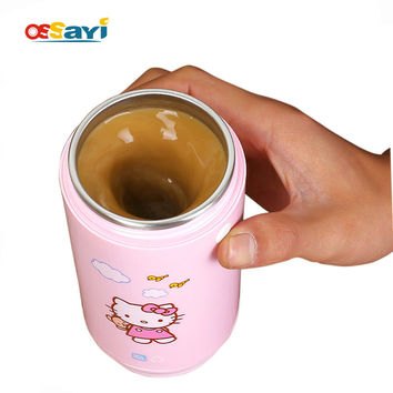 hello kitty self stirring mug