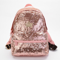 Cool Shine Crown Sequins Backpack