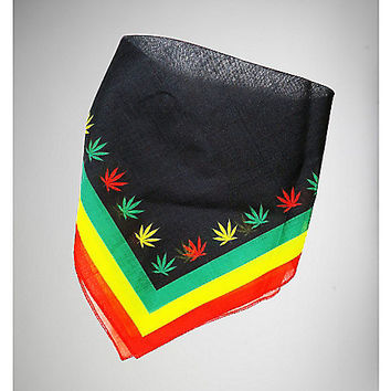 Rasta Pot Leaf Bandana - Spencer's