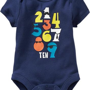 Old Navy Graphic Bodysuits For Baby Size 18-24 M - Goodnight nora