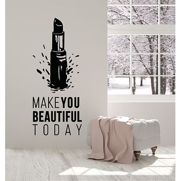 Vinyl Wall Decal Cosmetics Makeup Beauty Salon Quote Woman Fashion Stickers Mural (g764)