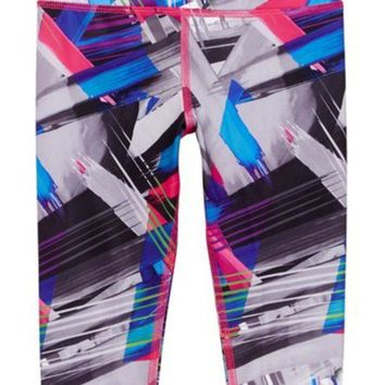 adidas | Printed Capri Tight Legging (Little Girls)