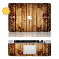 Wood grain -- Macbook Protective Decals Stickers Mac Cover Skins Vinyl Case for Apple Laptop Macbook Pro/Macbook Air/iPad