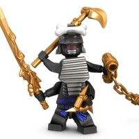 Lego Ninjago Minifigure - Lord Garmadon with Gold Weapons (9450)
