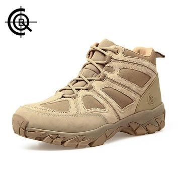 CQB Outdoor Hiking Shoes Walking Men Climbing Shoes Sport Boots Hunting Mountain Shoes