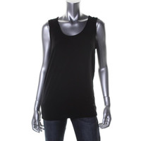 Eileen Fisher Womens Knit Sleeveless Tunic Top