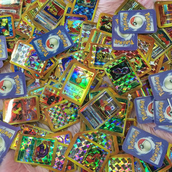 MINI HOLOGRAPHIC POKEMON CARD STICKERS