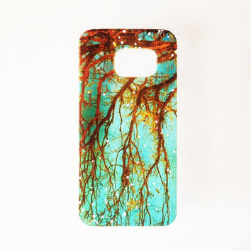 Samsung Galaxy S6 Tree Branch Case Soft Plastic Firefly Galaxy S6 Back Floral Samsung S6 Cover