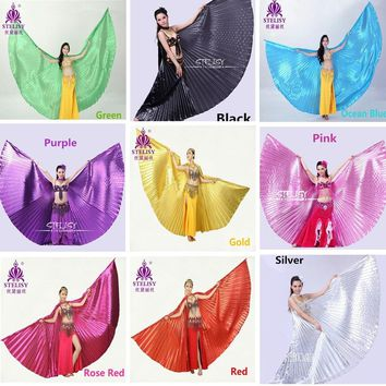Hot Belly Dance Isis Wings Adult Bellydance Costume Women Belly Dancing Oriental Wings 11 Colors No Sticks
