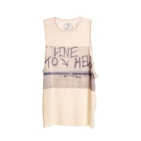 Iron Fist - Line to Hell Juniors Muscle Tank Top