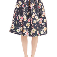 ModCloth Long Full Stemming from Style Skirt