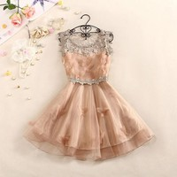forever2you — 3D BUTTERFLY HOLLOW OUT LACE DRESS