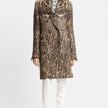 Women's Haider Ackermann Leopard Print Double Breasted Coat,