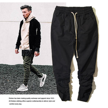 Zippers Casual Pants Stylish Slim Knife [10368012355]