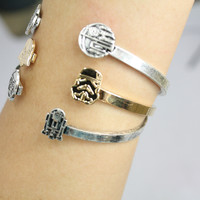 Love and Madness Star Wars Bracelet- Death Star & Millenium Falcon