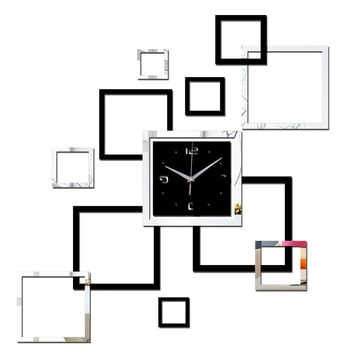 3D Acrylic Mirror Contemporary DIY Wall Clock