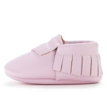 BirdRock Baby - Lavender Genuine Leather Baby Moccasins