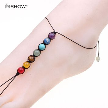 beach s heart double jewelry bracelet sale ankle sanlax bracelets chain foot string for anklet