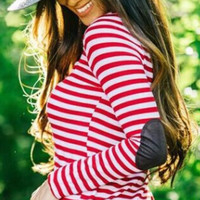 Stripe Long Sleeve Pullover Shirt