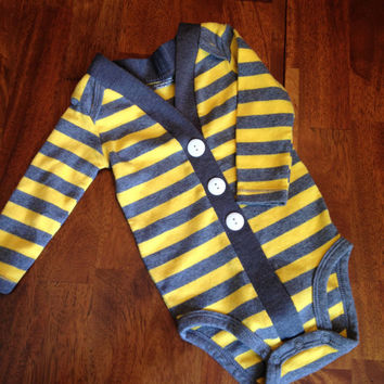 Baby Cardigan One Piece, Striped Infant Cardigan, Baby Boy, Child Cardigan, Long Sleeve Cardigan, Baby Shower Gift
