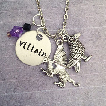 Villain - Mistress Of All Evil Necklace - Fairytale Jewelry - Once Upon A Time Jewelry - Villain Jewelry - Sleeping Beauty Inspired Jewelry