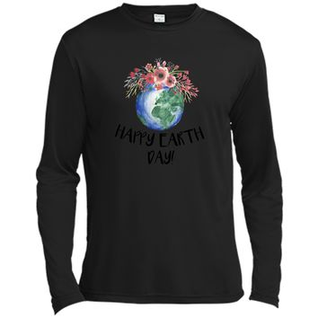 Happy Earth Day TShirt Earth Day 2018 Hippie Eco Change Gift Long Sleeve Moisture Absorbing Shirt