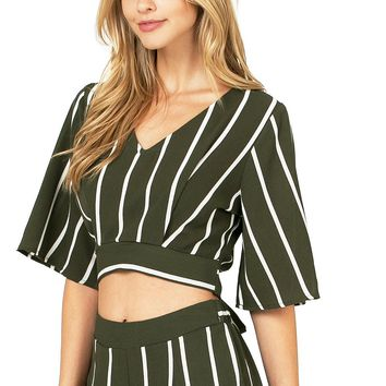 Virgo Stripe Crop Top