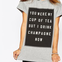 Missguided You Were My Cup Of Tea Slogan T-Shirt