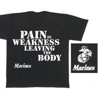 Rothco MARINES ''PAIN IS WEAKNESS'' T-SHIRT