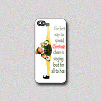Funny Christmas Elf Movie Quote - Print on Hard Cover for iPhone 4/4s, iPhone 5/5s, iPhone 5c - Choose the option in right side