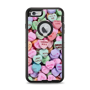 The Candy Worded Hearts Apple iPhone 6 Plus Otterbox Defender Case Skin Set
