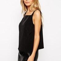 ASOS Thick Strap High Neck Cami With Pocket Detail