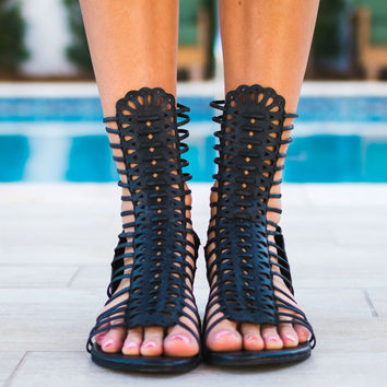 REBELS Brooke Festival Black Sandals