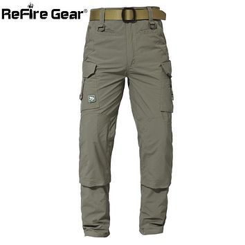 ReFire Gear Assault Lightweight Army Military Pants Men Summer Breathable Quick Dry Trousers Casual Pockets Tactical Cargo Pants