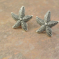 Silver Starfish Stud Post Earrings