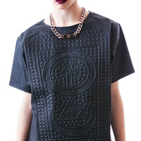 UNIF Braille Tee Black