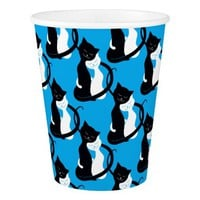 Customizable Background Hugging Love Cats Pattern Paper Cup