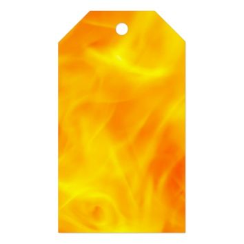 Fire and flames gift tags