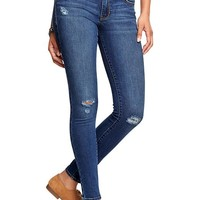 Women's The Rockstar Mid-Rise Distressed Super Skinny Jeans