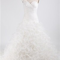 One Shoulder Trumpet Wedding Gown With Ruffle Details Wedding Gowns - Outerdress.com