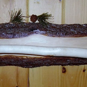 Rustic Wall Hanger with Log Bar by RUSTICNORTHERN on Etsy